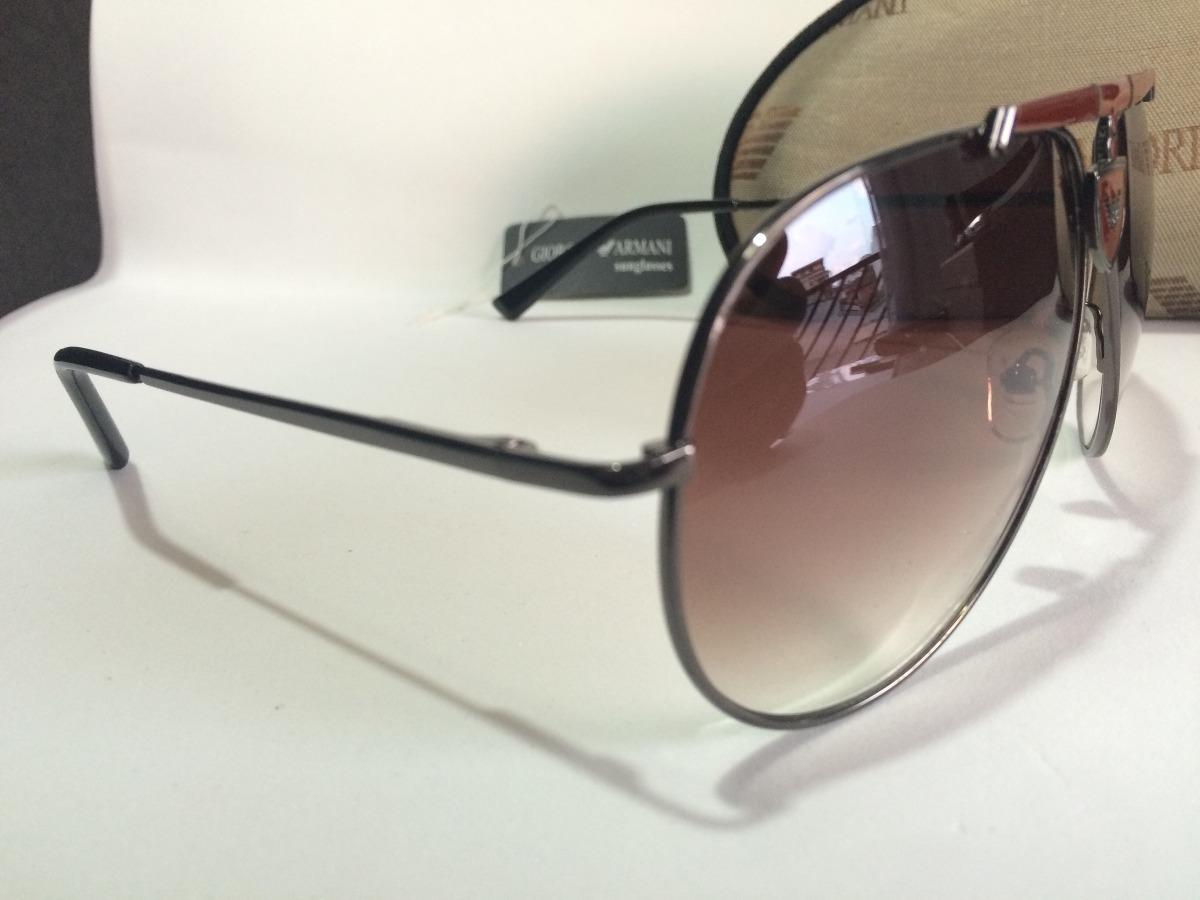 20c390f083e69 Óculos De Sol Modelo Aviador Emporio Armani Masculino - R  180,00 em ...