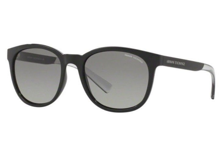0d97f5d50 Oculos Sol Armani Exchange Ax4050sl 818611 Preto Brilho Degr - R ...