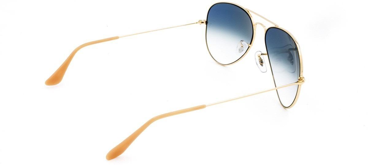 be347def3 óculos sol aviador azul degradê ray ban rb3025 100%original. Carregando zoom .
