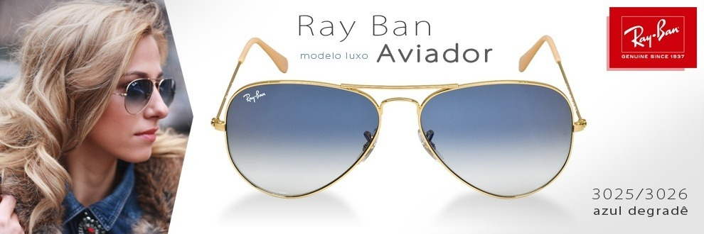 6f1240579af0a óculos sol aviador azul degradê ray ban rb3025 100%original. Carregando  zoom.