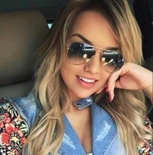 Óculos Sol Aviador Degrade Feminino Masculino Preto Dourado - R  39 ... 3dce15fe06
