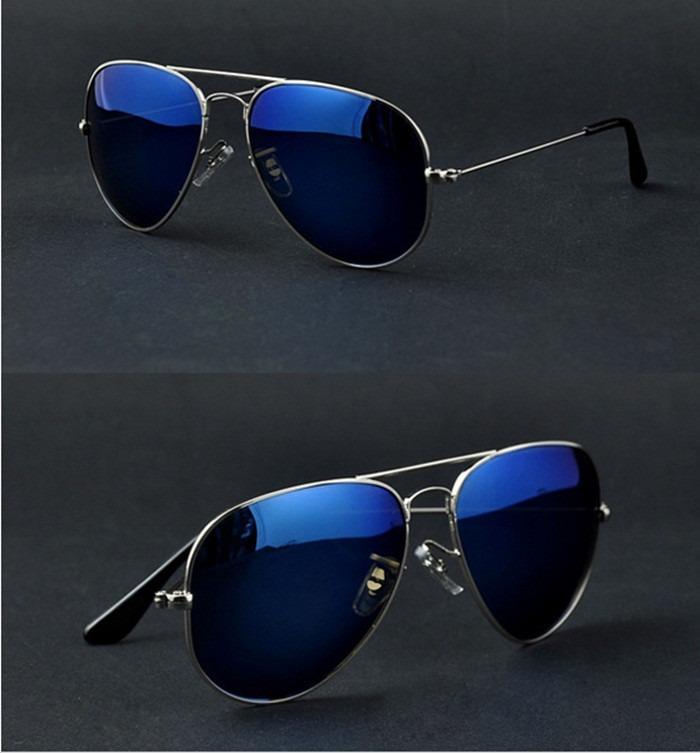 a8b75a896d351 Óculos Sol Aviador Espelhado Azul- Uv400. Pronta Entrega! - R  40,79 ...