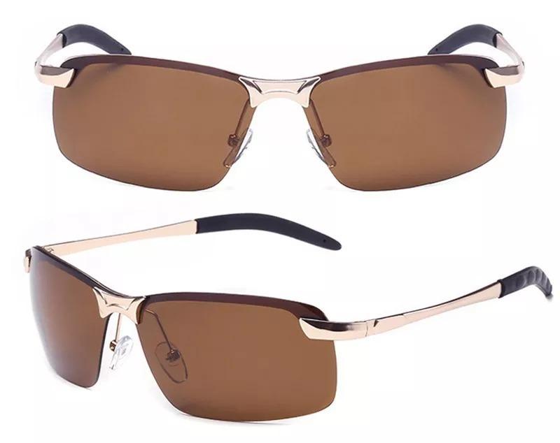 6e74a6676 óculos sol barato masculino lentes marrom ou fumê polarizada. Carregando  zoom.