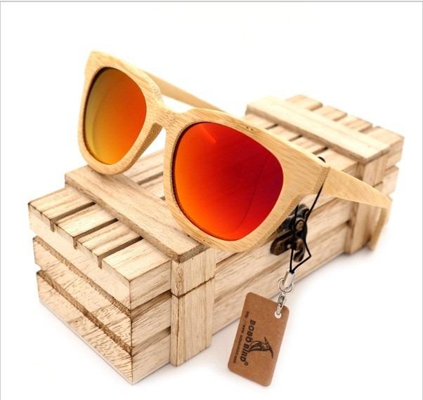 cbe38a91166cc Óculos Sol Bobo Bird Bambu Madeira Original Lente Polarizada - R  179,90 em  Mercado Livre