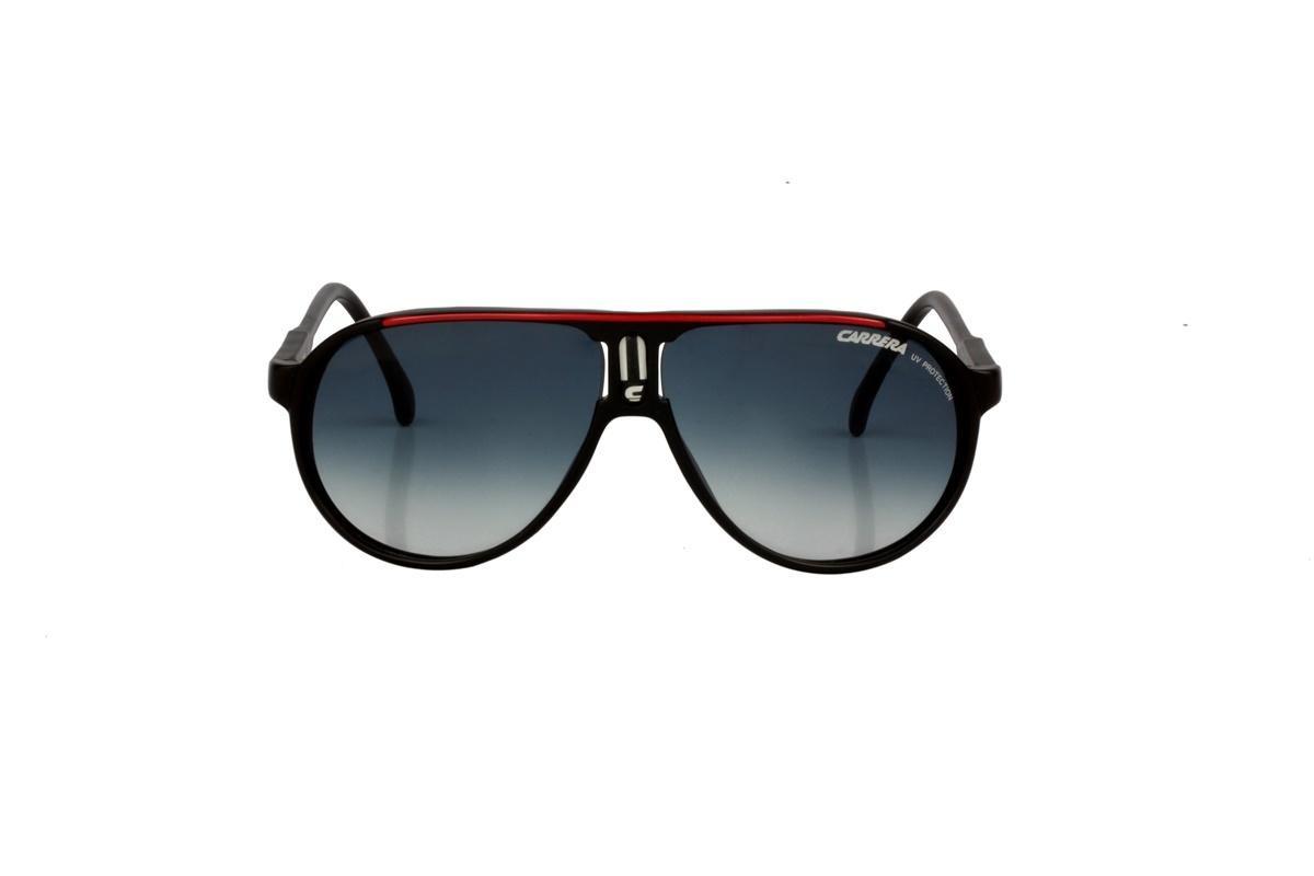 e8ed4a4a2ab7d Óculos De Sol Carrera 100% Proteção Uv Preto E Vermelho - R  228