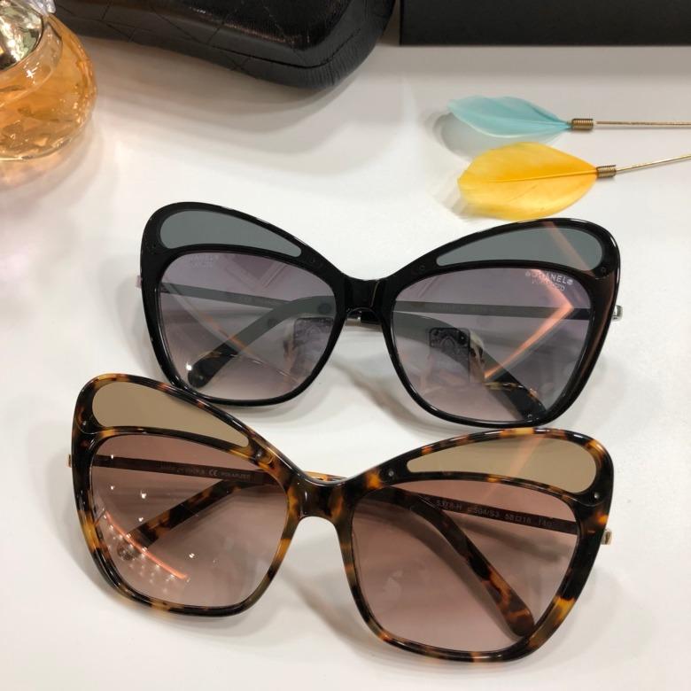 bf5334600dff7 Óculos De Sol Chanel 5378 Preto Dourado - R  499