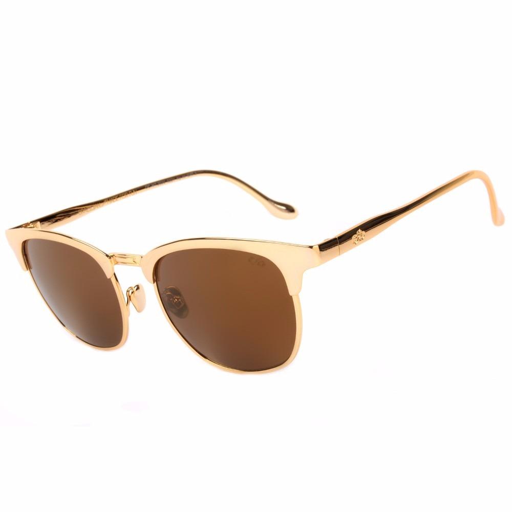 95d6fa7c503e4 Óculos De Sol Round Redondo Feminino Chilli Beans Ouro 24k - R  649 ...