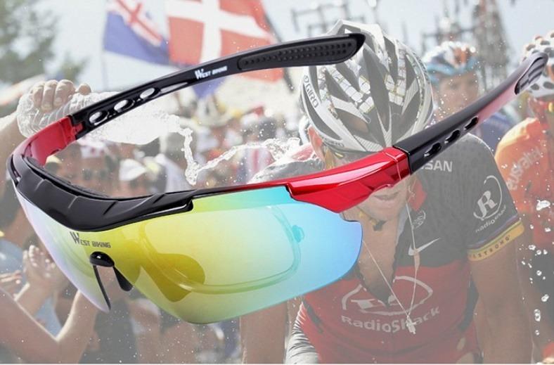 Óculos Sol Ciclismo 5 Lentes E 1 Polarizada West Biking - R  120,00 ... aaa8fec63b