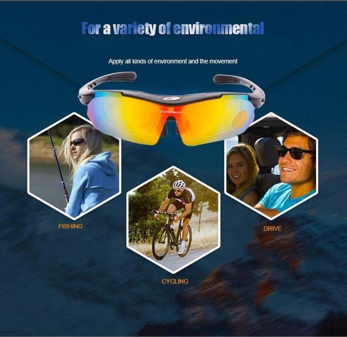 3423cf8e844bc Carregando zoom... óculos sol ciclismo robesbon c  5 lentes 1 polarizada  sku179