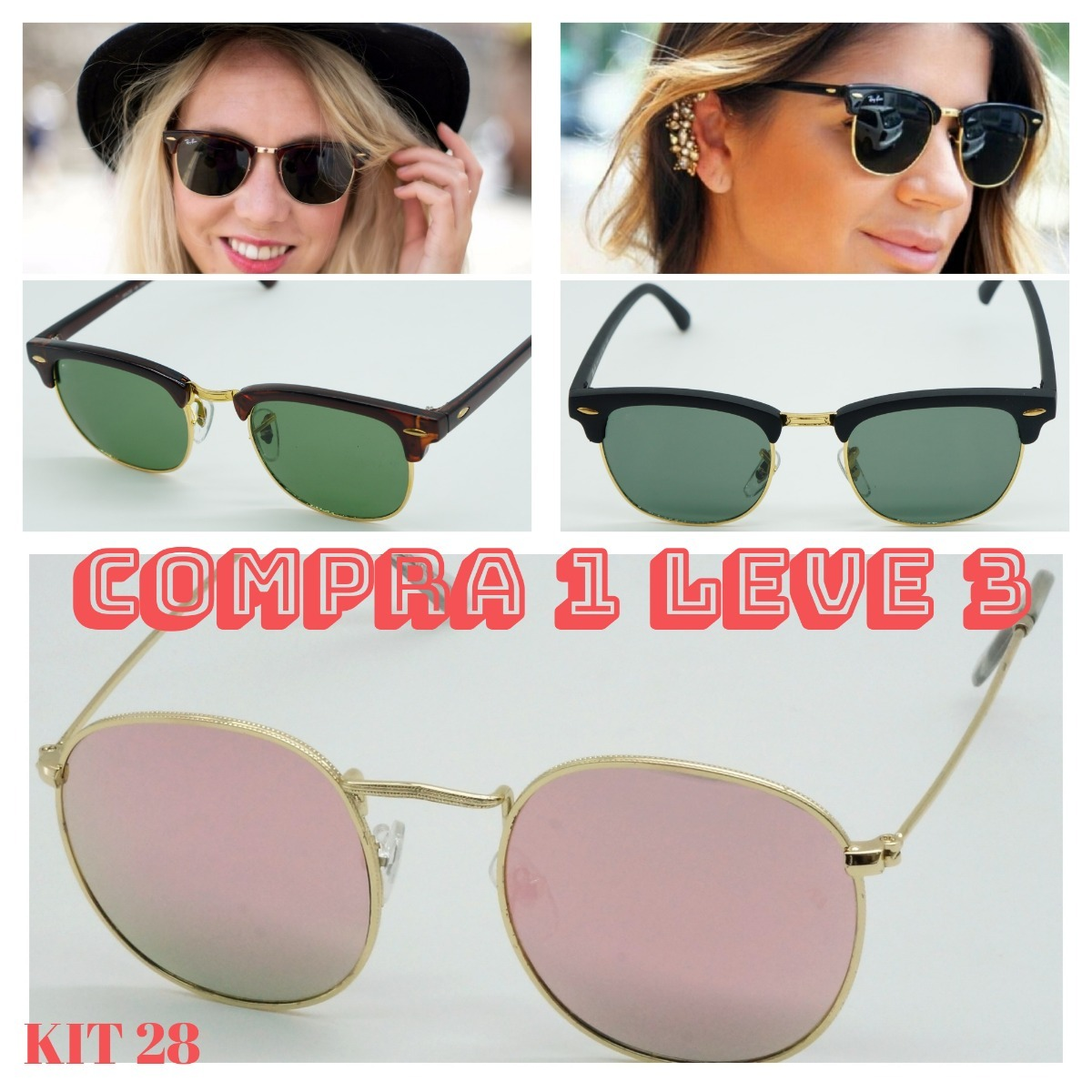 6f90ec17af6fc óculos sol club master justin feminino fosc cristal promoçao. 10 Fotos