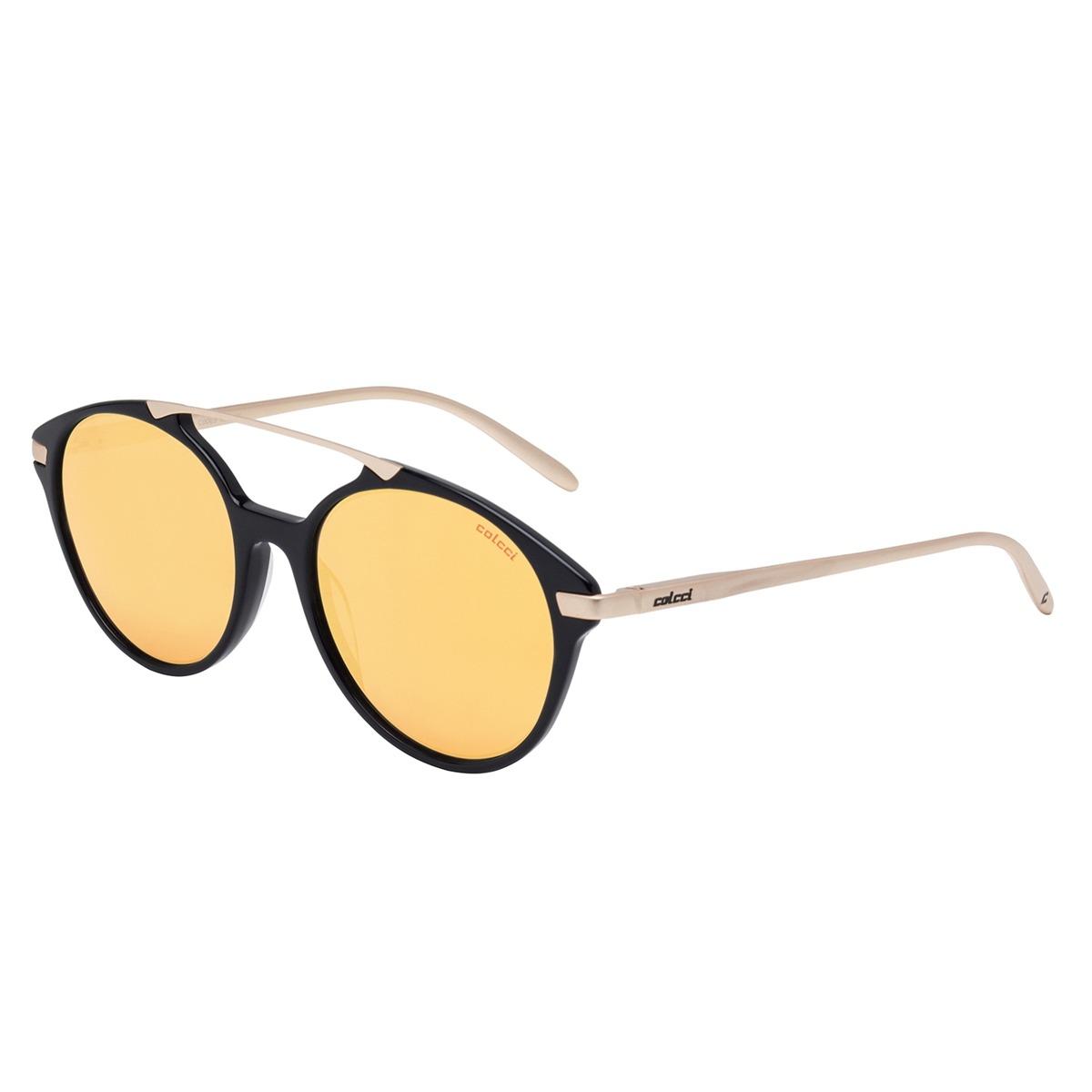 949742ad3 Óculos De Sol Preto/dourado E Lente Marrom C0069a3416 Colcci - R ...