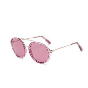 423e8d051 Oculos Sol Colcci Cindy Rosa Translúcido Brilho Com Dourado