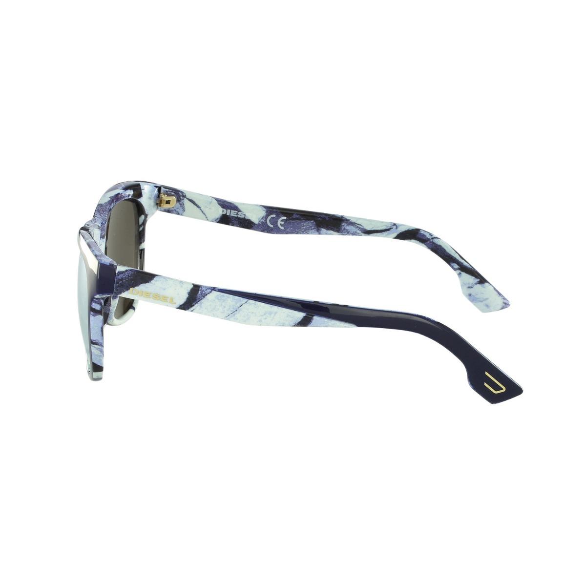 Óculos De Sol Diesel Casual Azul Dl0076 5690g - R  279,00 em Mercado ... b651e0c4da