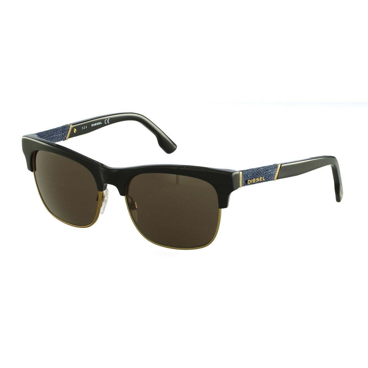 a34063dd93269 Óculos De Sol Diesel Casual Preto Dl0118 5401j - R  550,00 em ...