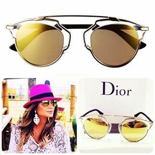 74759a806ba Óculos De Sol Dior So Real Dourado Kit Original Frete Gratis - R ...
