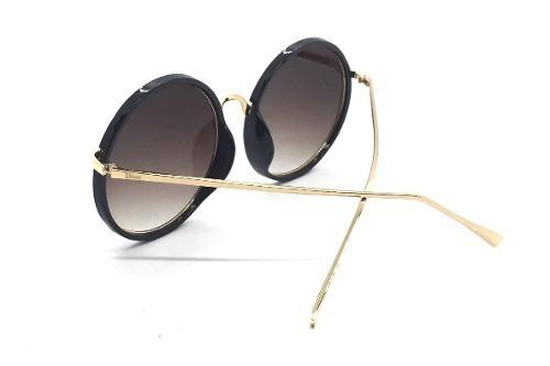 5514280434d Oculos De Sol Feminino Dior Redondo Espelhado - R  127