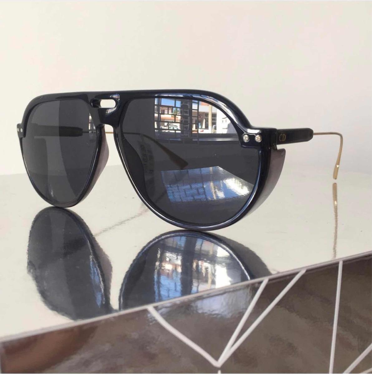 ea80abf76a3 Óculos De Sol Dior Club 3 Preto Aviador Acetato Proteção Uv - R  449 ...