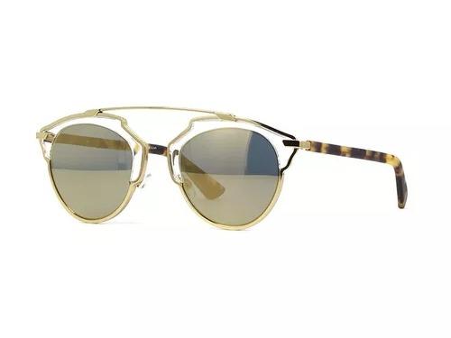 5e1b3192347 Óculos De Sol Christian Dior So Real Feminino Dourado Preto - R  449 ...