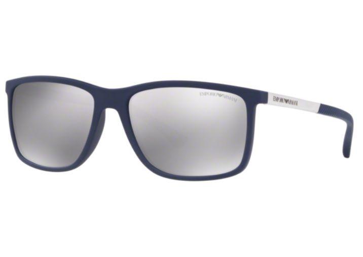 09109b0b7 Oculos Sol Emporio Armani Ea4058 57596g 58 Azul Fosco Prata - R$ 449 ...