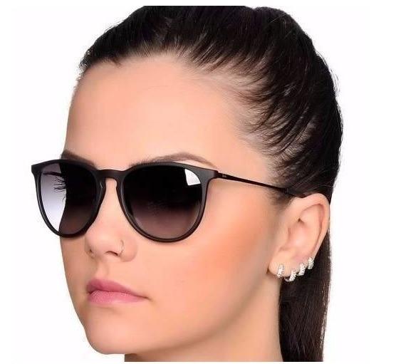 cc7f88a4f Oculos Sol Erika Feminino Masculino Preto Polarizado - R$ 28,90 em ...