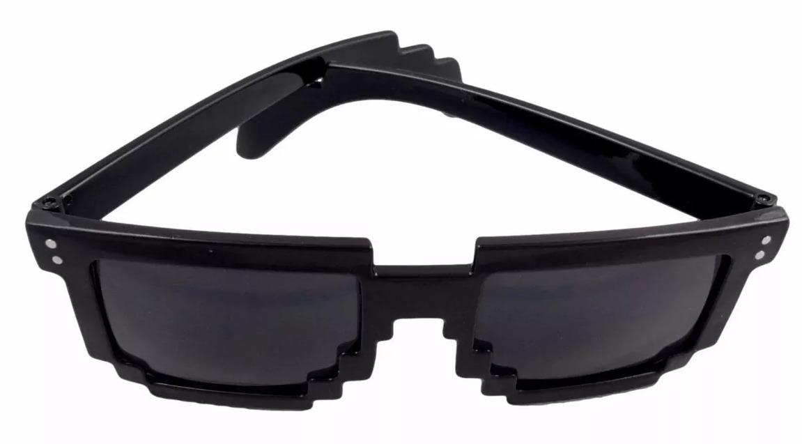 2ac7b73d187b0 Óculos Sol Escuro 8 Bits Geek Pixel Unisex - R  29,99 em Mercado Livre