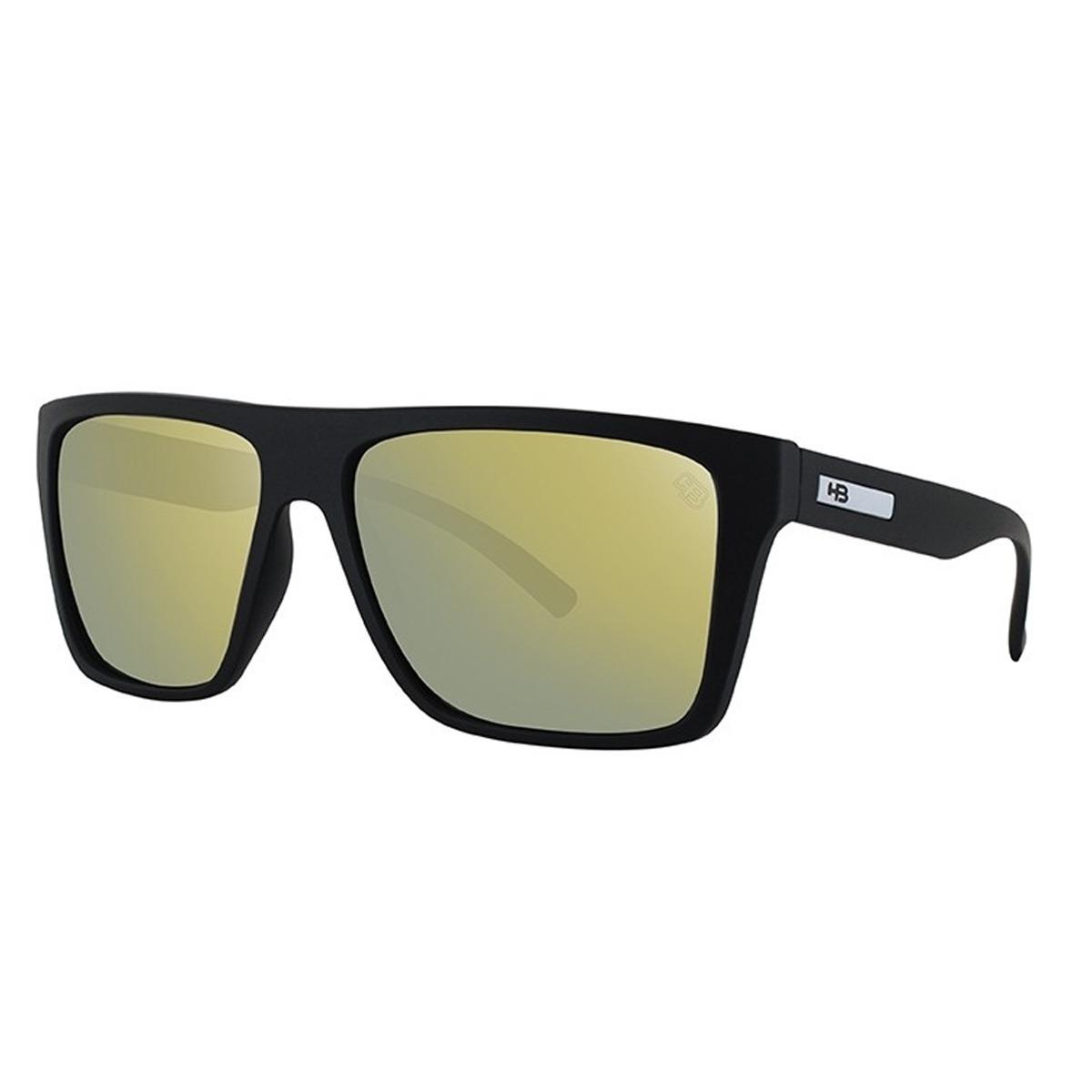 oculos sol espelhado masculino hb floyd preto fosco dourado. Carregando  zoom. 69ea2c462e