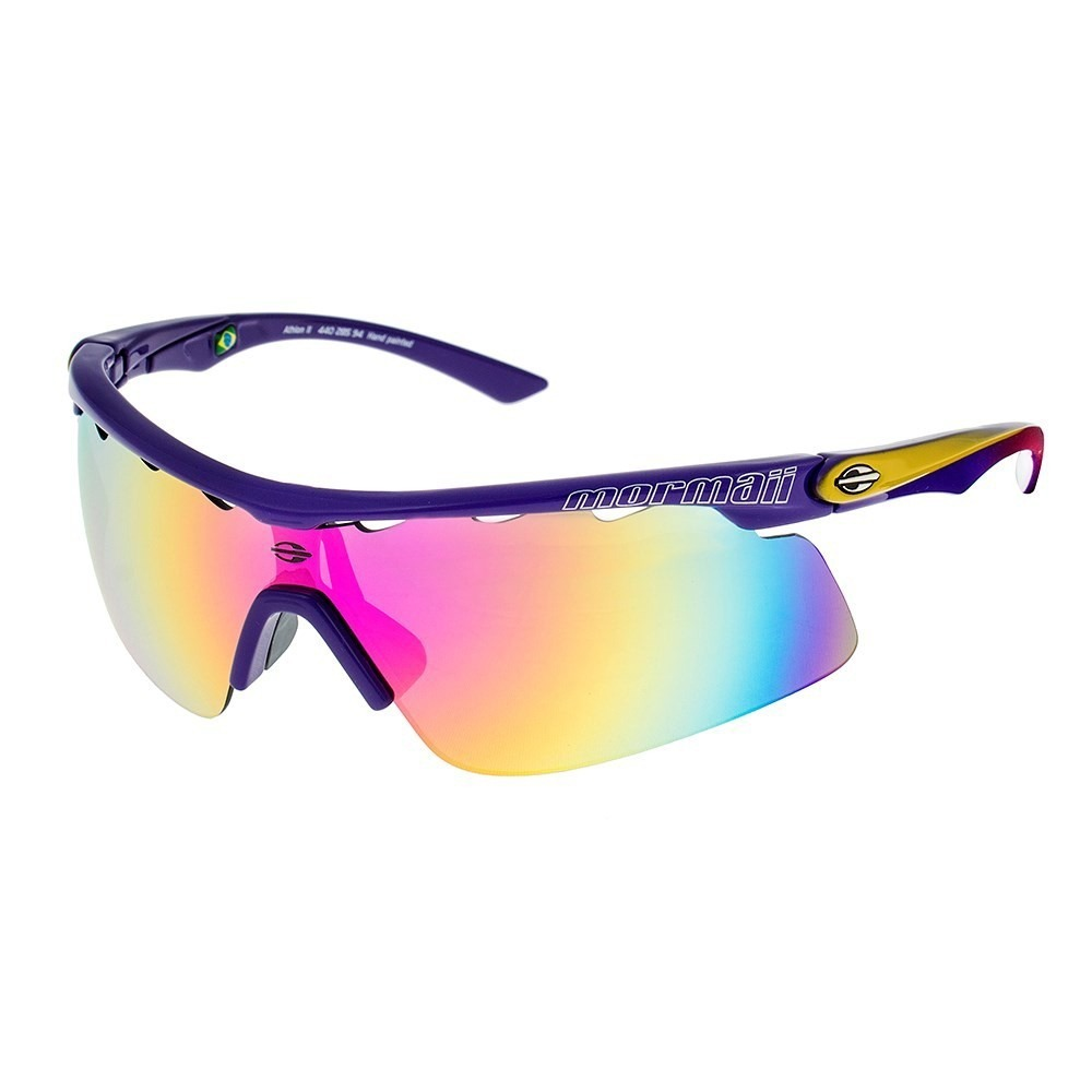 oculos sol espelhado mormaii athlon 2 esportivo colorido uv. Carregando  zoom. 33685e01ba