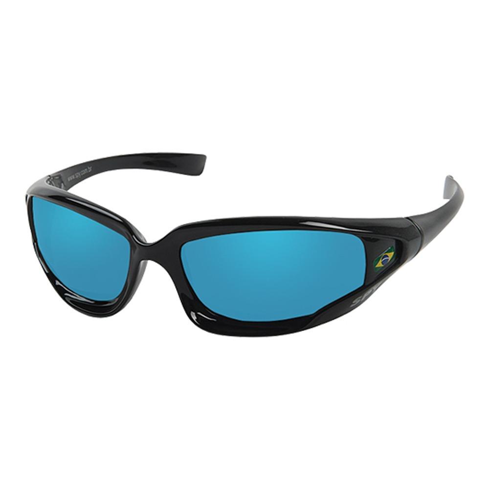 60fef43d97f4e oculos sol espelhado spy original hcn 50 preto lente azul. Carregando zoom.