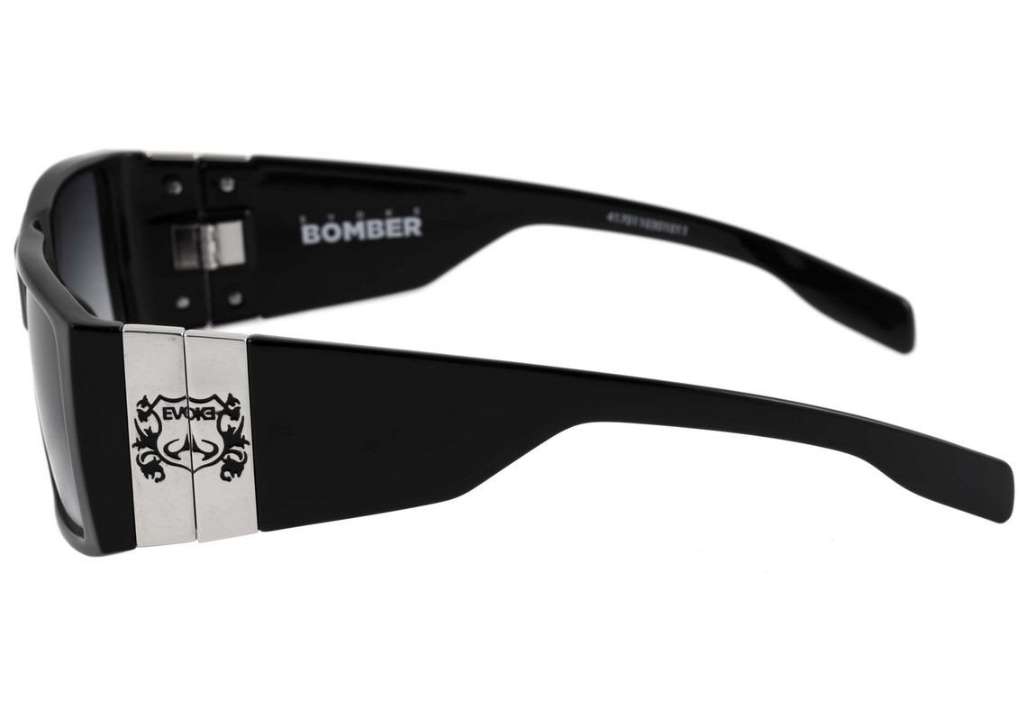 a8dc0dc582a79 Evoke Bomber - Óculos De Sol Black Shine  Gray Degradê - R  697,00 ...