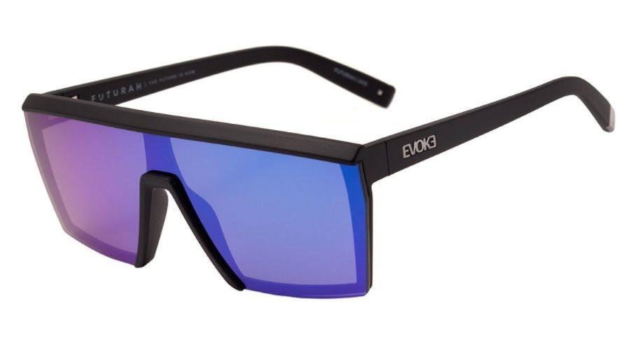 oculos sol evoke futurah a11s preto fosco lt azul espelhado. Carregando  zoom. 97549508ce