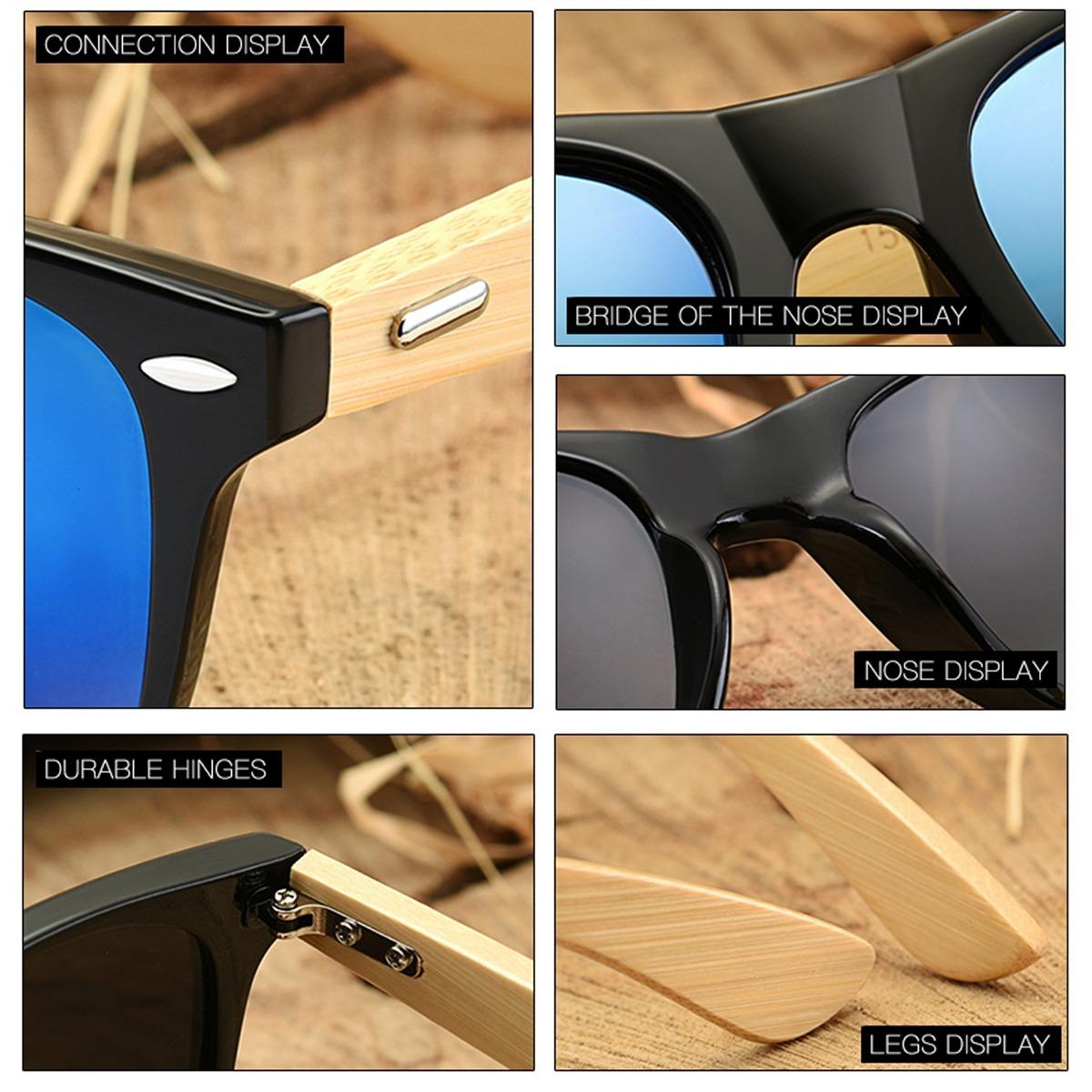 óculos sol feminino armção madeira case oculos hd promoção. Carregando zoom. 17cab8b9ac