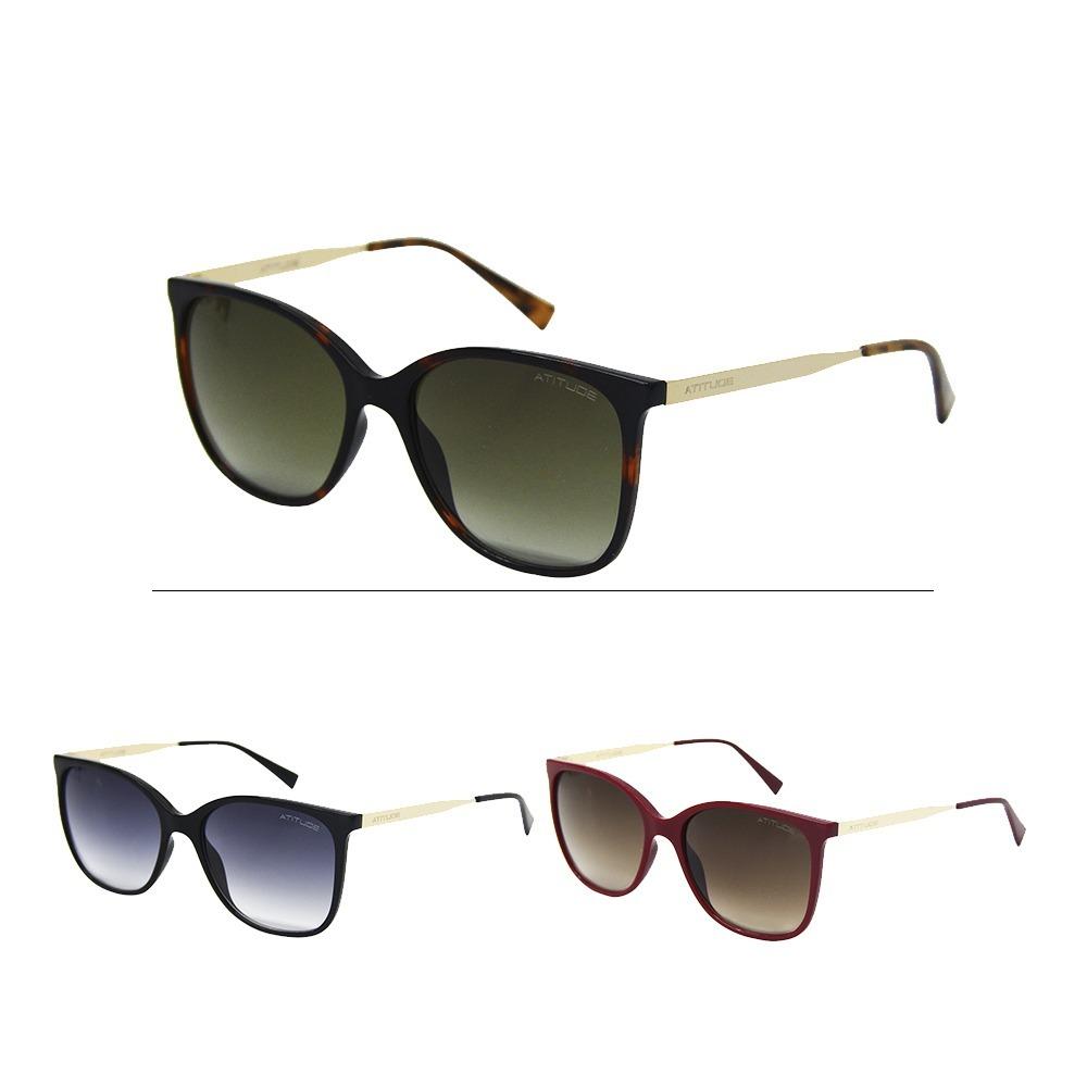 fd62020fd Óculos Sol Feminino Atitude 5304 - R$ 169,59 em Mercado Livre