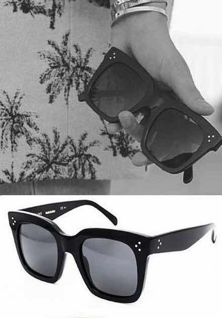 6f620c9fb5efb Oculos Sol Feminino Celine Preto Grande Quadrado Luxo Famoso - R  38 ...