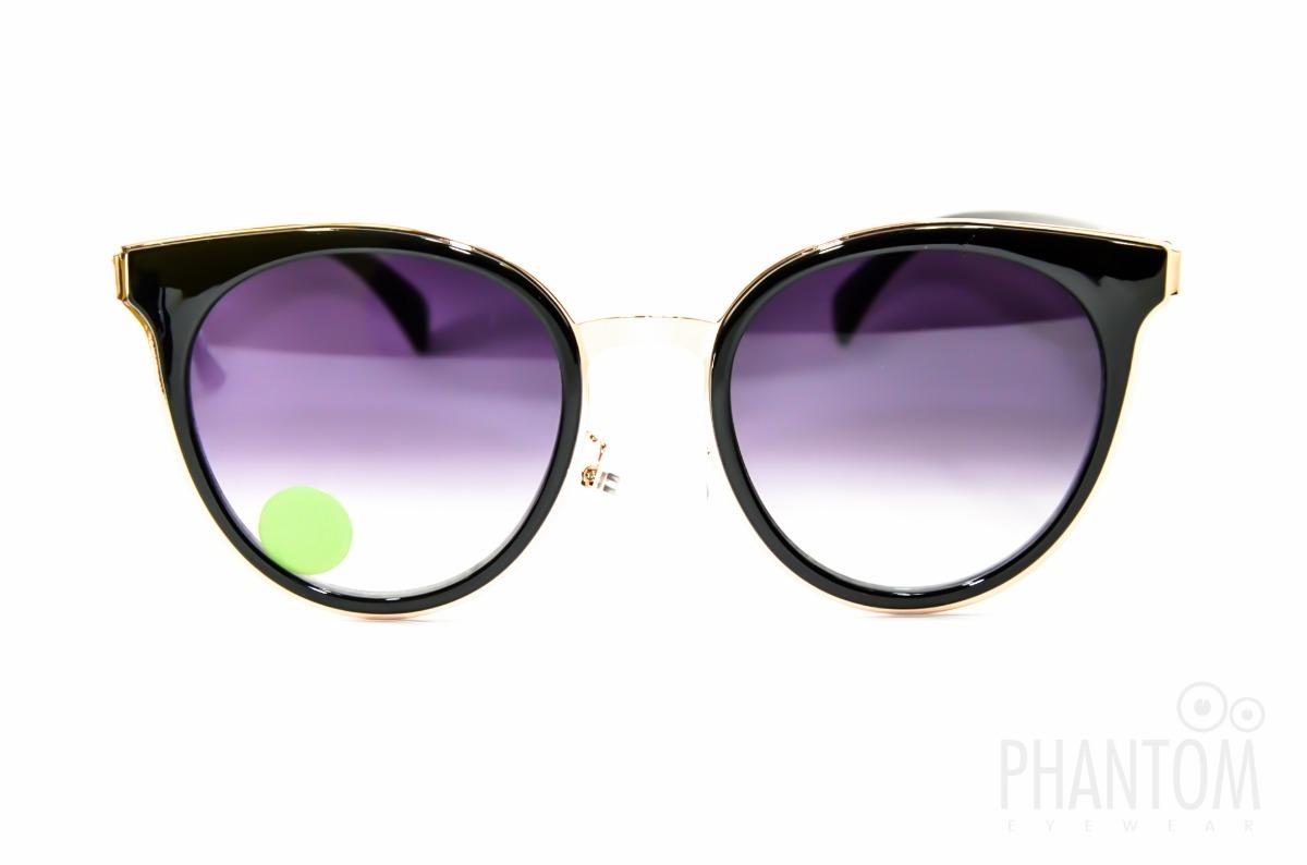 8517285e7785f oculos sol feminino degrade preto grande redondo gatinho. Carregando zoom.