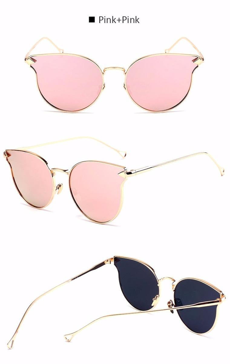 907e8e9704f2f óculos sol feminino espelhado drop gato gatinho round metal. Carregando zoom .