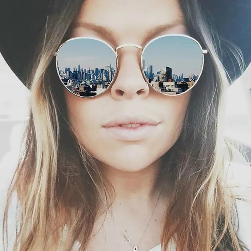 4da47b120 óculos sol feminino espelhado redondo retrô vintage barato. Carregando zoom.