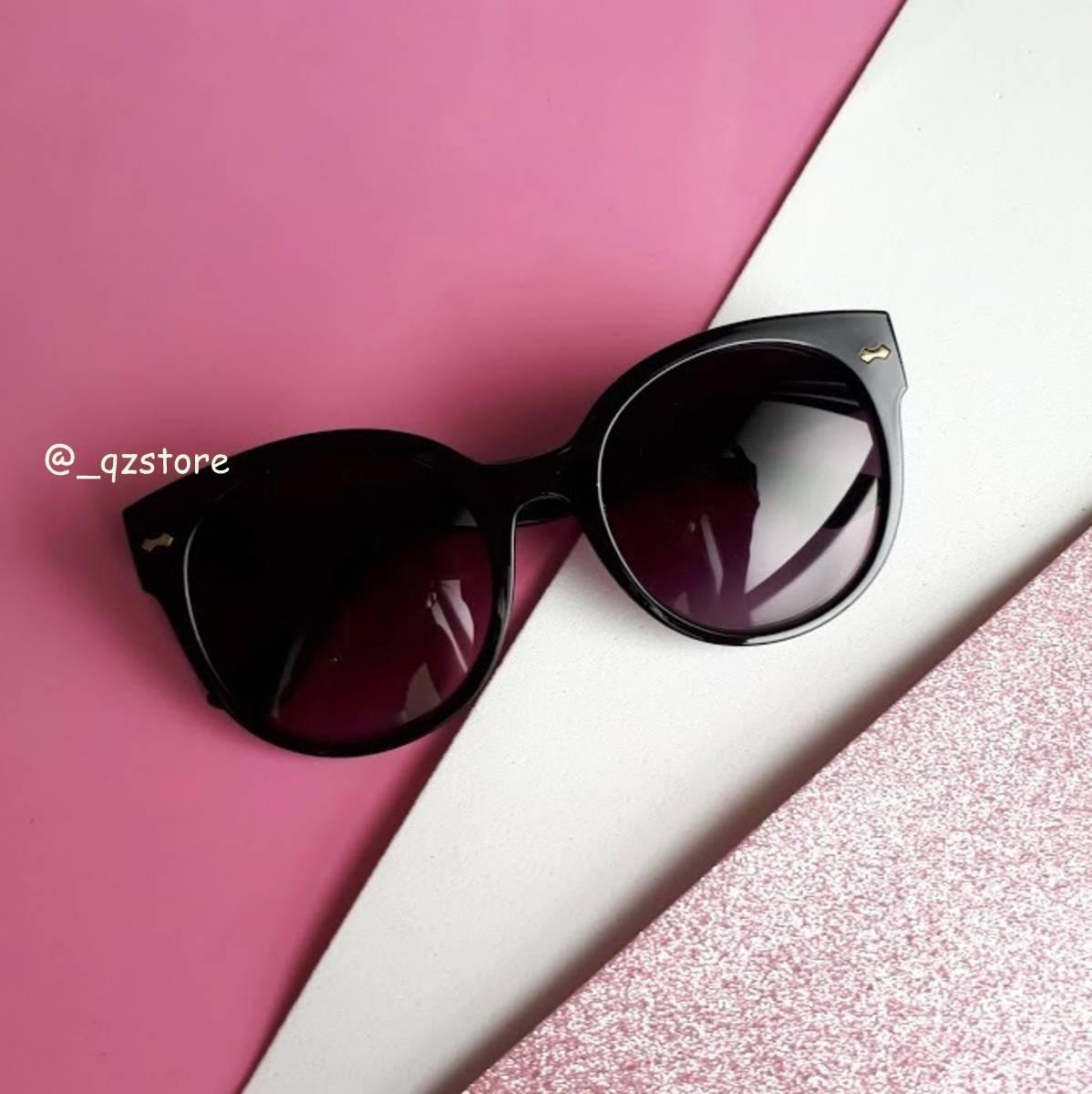 óculos sol feminino gatinho lente proteção uv estojo grátis. Carregando  zoom. 6efd443a39