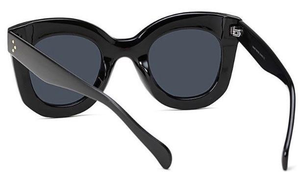 4382a6278208d Óculos Sol Feminino Grande Gato Case Retro Luxo Preto Celine - R  49 ...