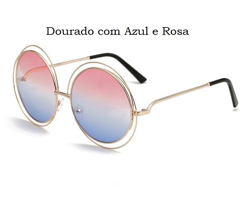 Óculos Sol Feminino Grande Mercado Espelhado Rb Vintage Diva - R  85 ... a7565a9a50