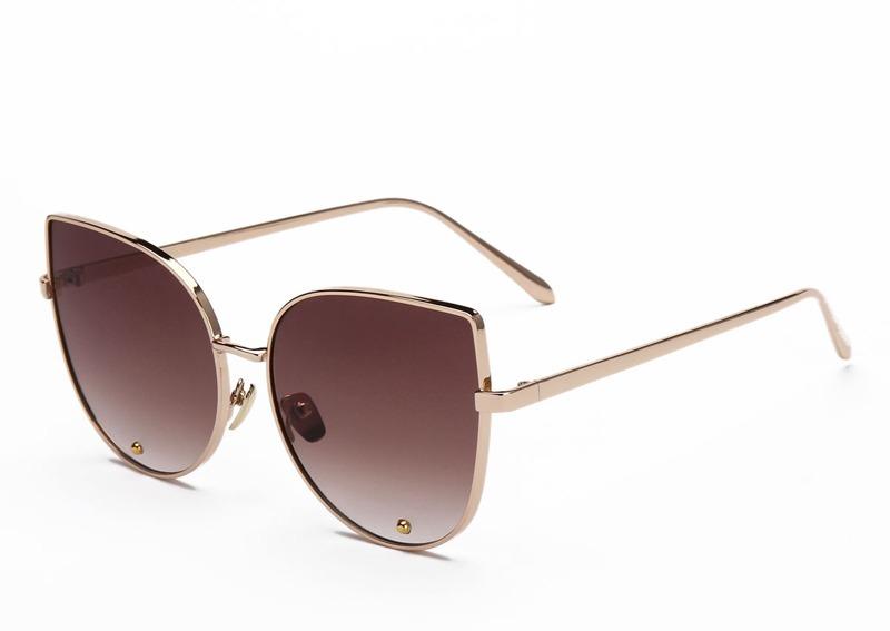 óculos sol feminino lola blogueira blog haste dourada marrom. Carregando  zoom. eaf0493409
