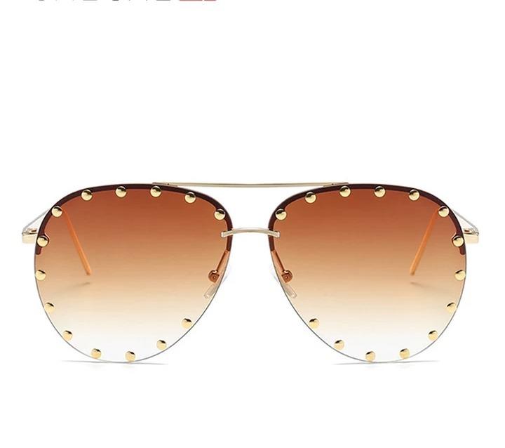 a16ba5dcd Óculos Sol Feminino Marrom Degrade Com Uv 400 Instagram Moda - R$ 99 ...