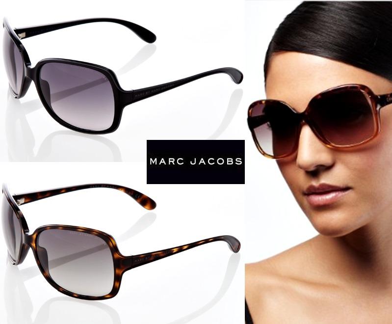 Óculos Sol Feminino Original Marc Jacobs Preto Marrom Grande - R ... 11e059c407