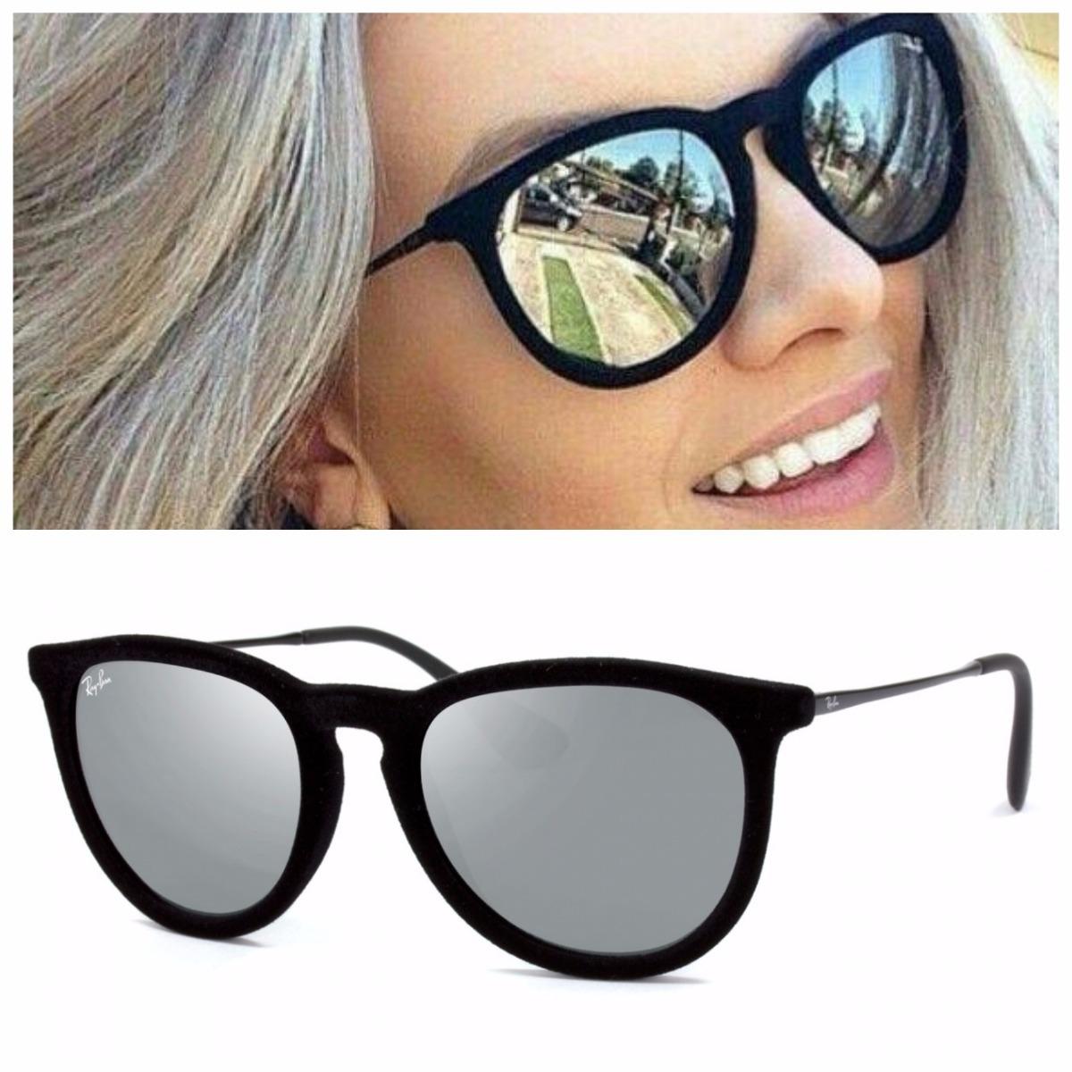 0d326cce756d8 óculos sol feminino redondo érica erika veludo camurça prata. Carregando  zoom.
