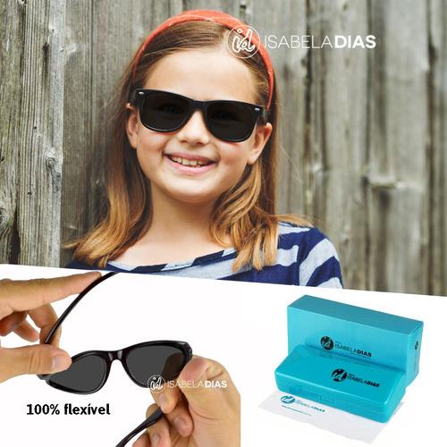 c1ea4527b6480 Óculos Sol Flexível Infantil Criança Não Quebra Original 228 - R  89 ...