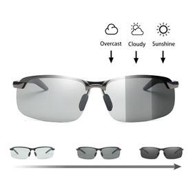 Óculos Sol Fotocromático Esportivo Ciclismo Polarizado Uv400