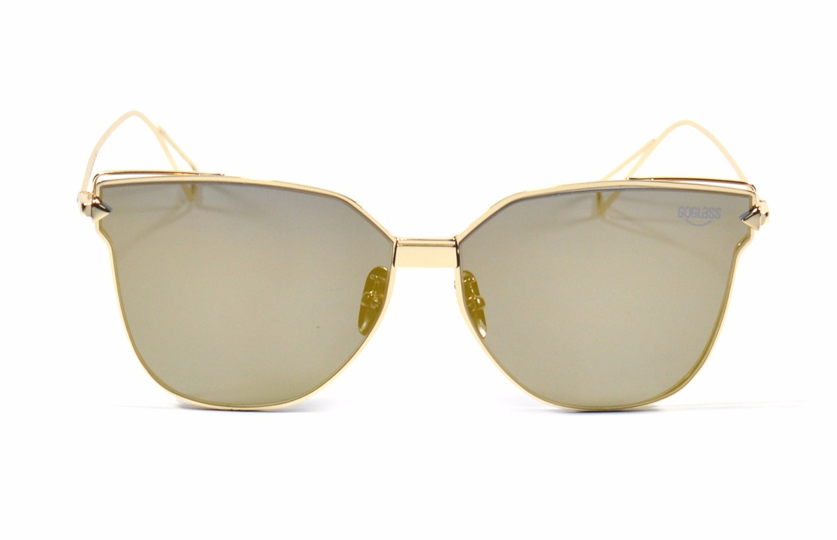 óculos sol goglass feminino lente espelhada dourada original. Carregando  zoom. 509a79cb29