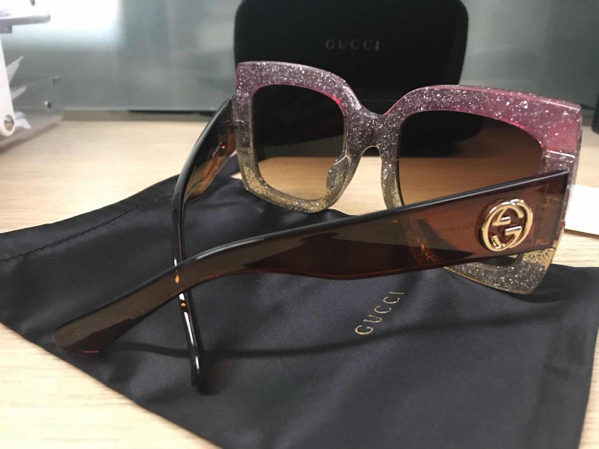 b63fee232e113 Óculos De Sol Gucci Quadrado Multicolor - R  279,99 em Mercado Livre