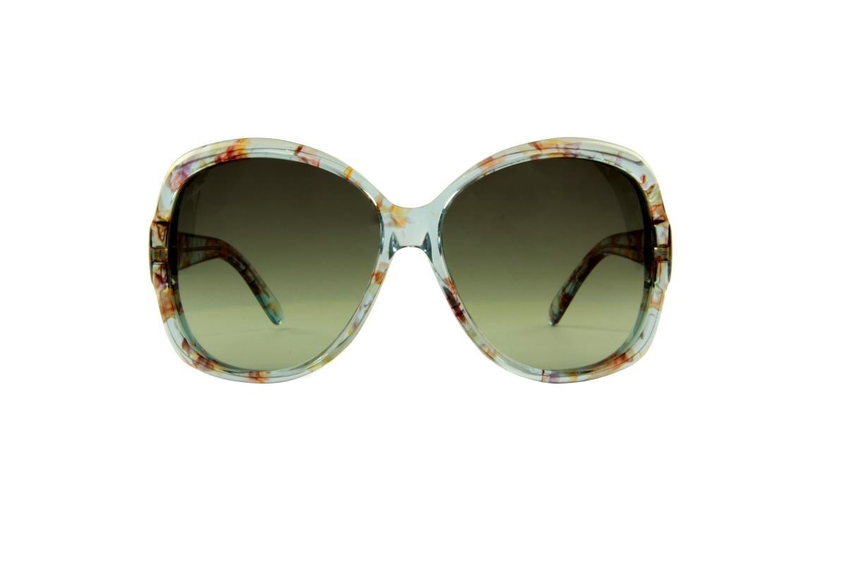 6b9db09e3cab8 Óculos De Sol Gucci 100% Proteção U.v. Ópticas Melani Azul - R  533 ...