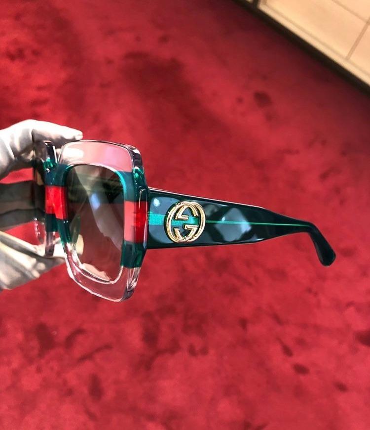 84f48e16cf110 ... quadrado transparente acetato frete grátis. Carregando zoom... óculos  sol gucci. Carregando zoom.