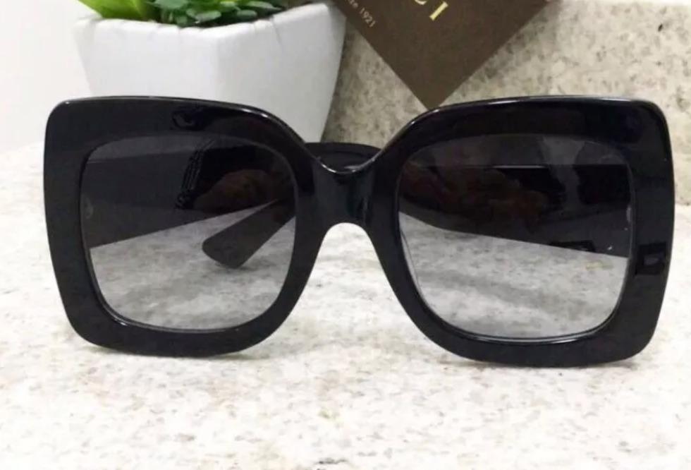 a1c4d105de78b Óculos De Sol Gucci Feminino Quadrado Com Caixa Original - R  699,00 ...